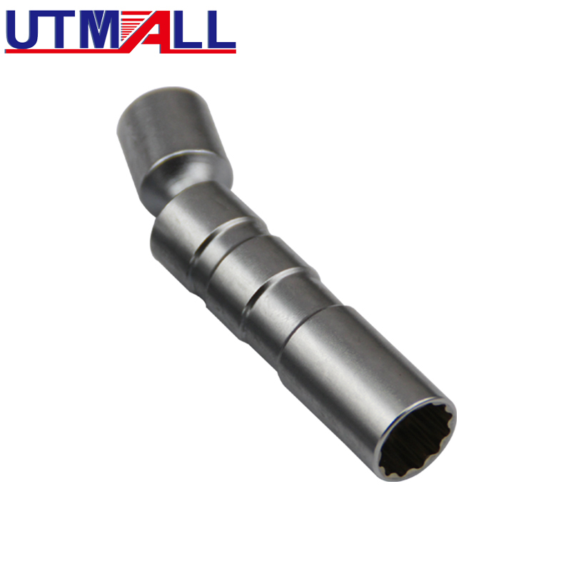 Universal 16mm Point Remover Wrench Magnetic Spark Plug Sleeve Socket Car Removal Tool 12 Angle Thin Wall 3/8