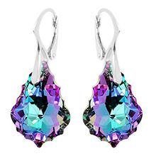 Висячие серьги hermosa с радужными кристаллами для женщин серебряные
