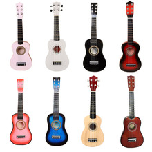 21 дюймов сопрано укулеле Акустическая гитара Гавайский Стиль Гитара 4/6 струны гитара Музыкальные инструменты дети гитара для начинающих