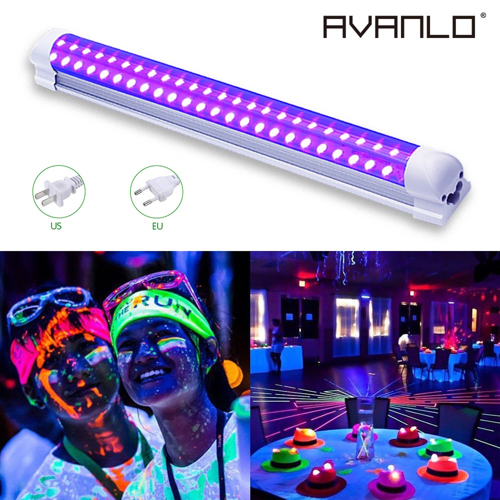 LED Stage Lighting Lamp Portable   UV Lights Bar LED Strip Lights Party Club Halloween Home Decor AC85-265V US/EU <font><b>Plug</b></font> image
