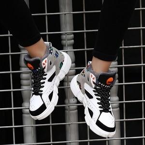Image 3 - TUINANLE גבוהה למעלה נעלי חורף חם קטיפה נשים נעלי גרפיטי פלטפורמת סניקרס לבן מאהב נעלי גודל 11 Zapatos De Mujer