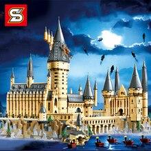 Potter Movie Series Magic Castle School set   Building Blocks Bricks Compatibie LegoINGLs 71043 Educational Toys Children Gifts
