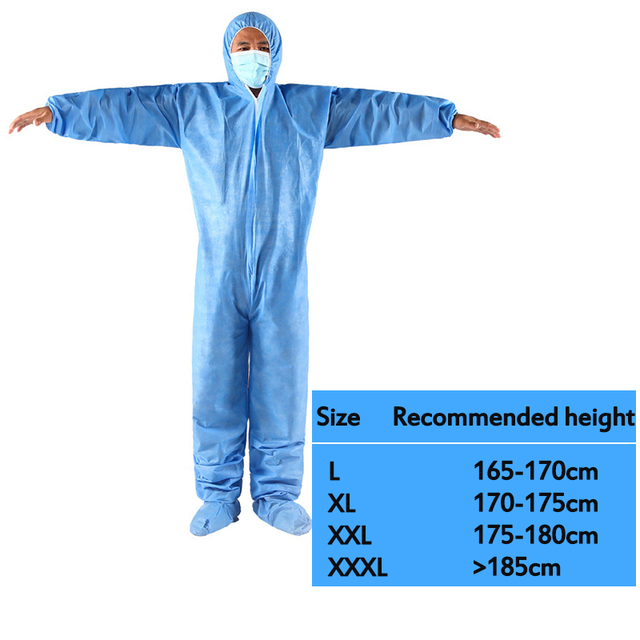 Protective Clothing Waterproof ppe suit Protective Gown Clothing FluidResistant Impervious 2