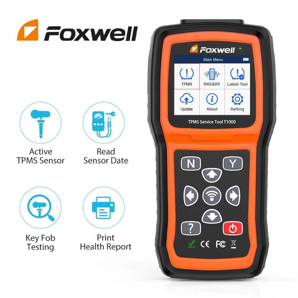 Foxwell T1000 давления воздуха в шинах триггер инструмент активации программы давления воздуха в шинах датчики проверить РЧ-ключ брелок шин Давл...