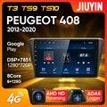 JIUYIN Тип C автомобильный Радио Мультимедиа Видео плеер навигация GPS для Peugeot 408 2012 - 2020 Android No 2din 2 din dvd