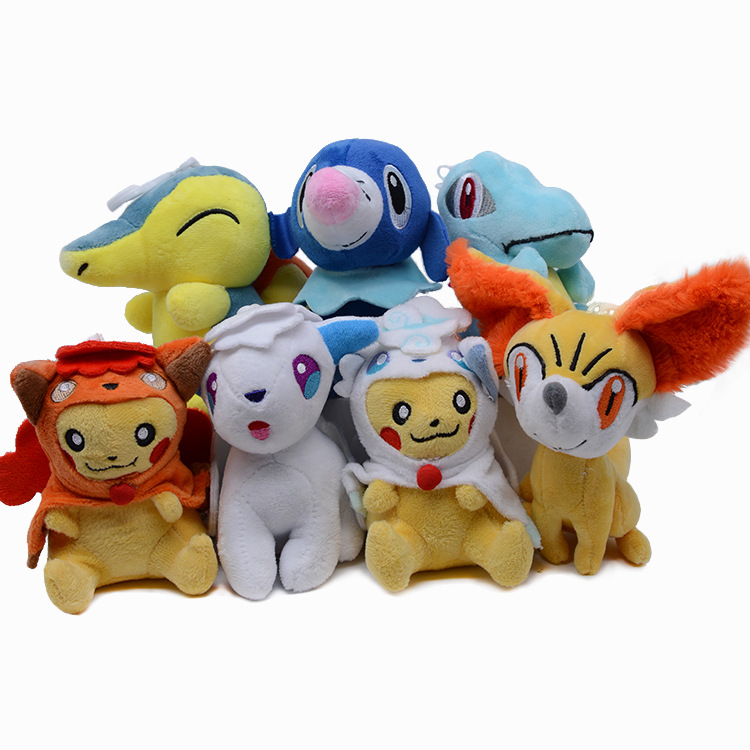 takara-tomy-font-b-pokemon-b-font-pikachu-plush-toys-displacement-ice-fire-six-tailed-fox-plush-doll-doll-grip-pendant