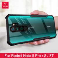 2019 stoßfest Telefon Fall Für Xiaomi Redmi Hinweis 8 8pro Schutzhülle Telefon Abdeckung Xundd Ständer Transparent Mit Stoßfänger Käfer