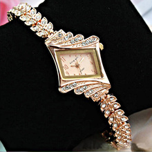 Brand King Girl Women Watches Luxury Rose Gold Crystal Ladies montre bracelet femme reloje mujer