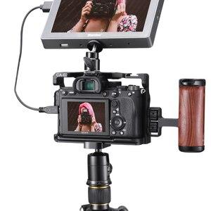 Image 5 - VIJIM CA 02 アルミ合金カメラケージソニー A7R4 ソニー A7R iv コールドシューマウント Arri ポジショニング穴 1/4 3/8 スレッド
