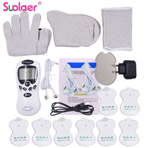 Image 1 - 1 Set Dual Channel 8 Tens Unit Electronic Therapy Body Neck Massager Pulse Meridian Machine Muscle Stimulator Glove Sock Bracer