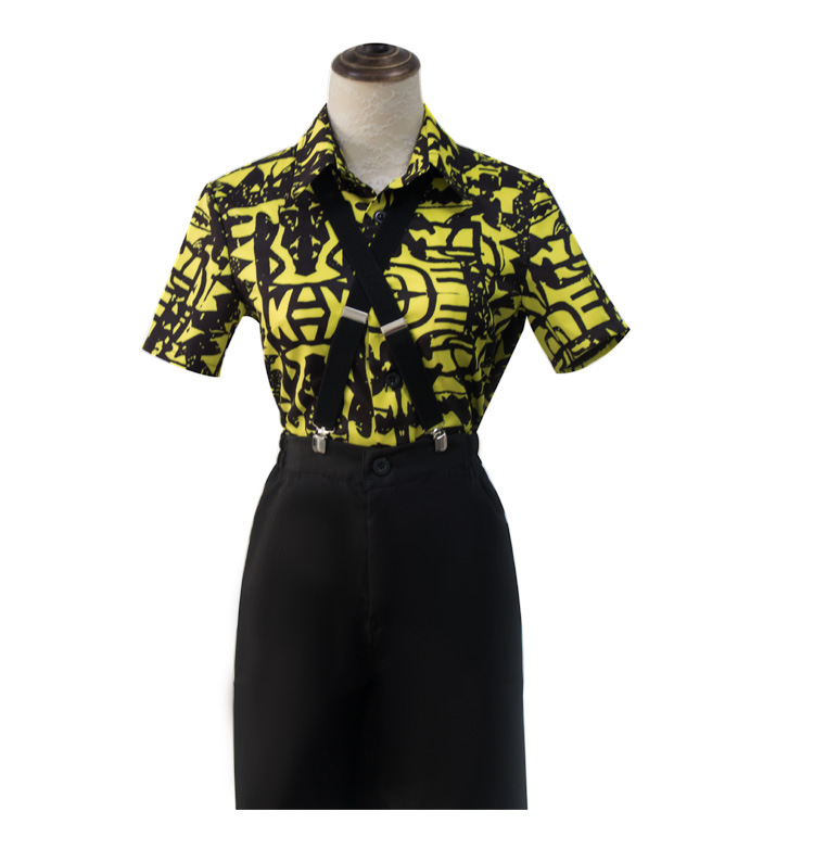 2020 New Cosplay Stranger Things Season 3 Eleven Costume Shirt Blindfold Suspender Summer T-shirt
