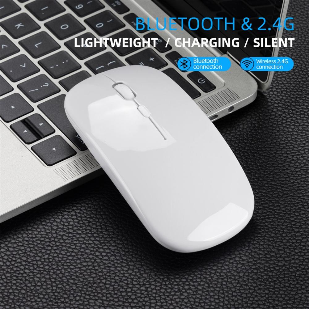 M90 Rechargeable Wireless BT 5.0 USB Dual Mode Gaming Mouse Mice For PC Laptop Slim Design For Sleek Look And Portable Use 1010