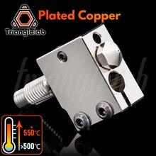 trianglelab Plated Copper Volcano Kit Nozzle+ Heat BLOCK+ TC4 Titanium alloy Heat Break for PETG carbon fiber PEI PEEK ABS NYLON
