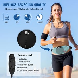 Image 3 - Portable CD Player with Earphones HiFi Music Compact Walkman Player Reproductor CD Anti Shock Personal Car Music Disc Player