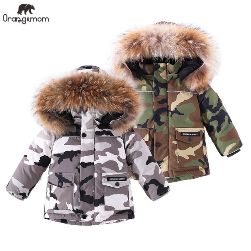 2020 Брендовое зимнее пальто, детская куртка для маленьких мальчиков, зимняя одежда, камуфляжная детская одежда, водонепроницаемая детская у...