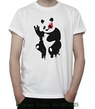 Rock N' Roll Panda T Shirt Kiss Band Music Makeup Funny Badass Design Grey White New Grey Unisex Funny Tops Tee цена