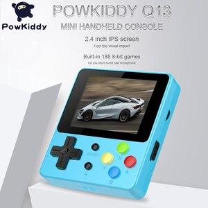 Image 2 - Powkiddy Q13 LDK 88FC el Video oyunu konsolu dahili 188 8 Bit FC oyunları 2.4 inç IPS ekran çocuk hediye destek TV
