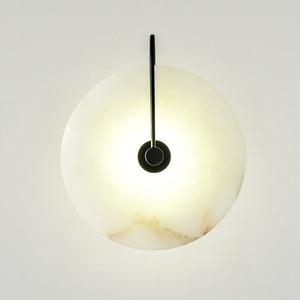 Image 1 - Zerouno Новый мраморный настенный светильник для комнаты 16 см 25 см светодиодный настенный светильник s черный золотой промышленный Современный Мраморный Настенный светильник светильники