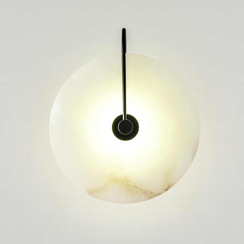 Zerouno New Marble Wall Lamp Room 16cm 25cm Led Wall Lights Black Gold Industrail Modern Marble Wall Sconces Light Fixtures