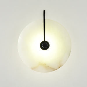 Image 1 - zerouno new marble wall lamp room 16cm 25cm led wall lights black gold industrail modern marble wall sconces light fixtures