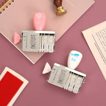 JIANWU-botón giratorio creativo, sellos para álbum de recortes, agenda de planificación, diario artesanal, suministros escolares, 1 ud.