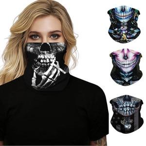 Mascarilla facial Unisex sin costuras con estampado de Calavera, máscara de tubo para el cuello, para motocicleta, #40