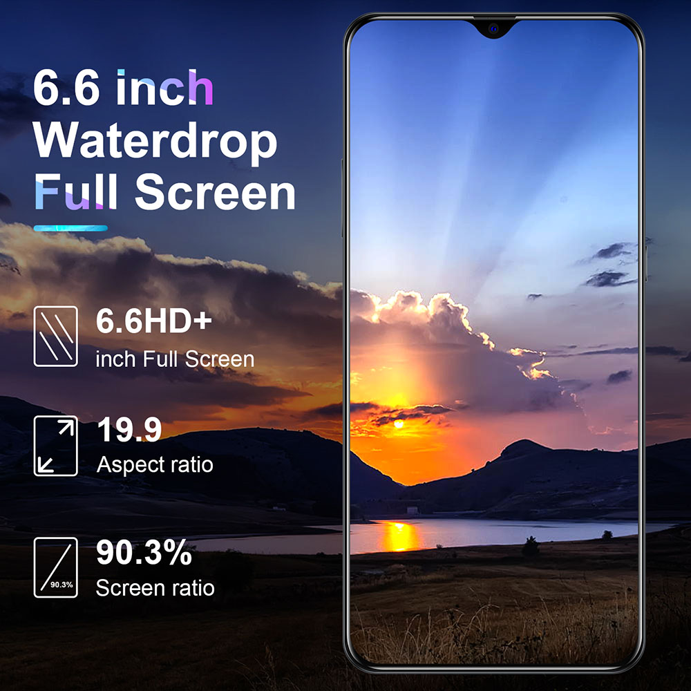 "SOYES P50 Pro Android Phone Rear 5 Camera 6.6"" Full Screen 2GB+16GB Dual SIM Card Global Language Original Mobile Phone 5000mAh 4"