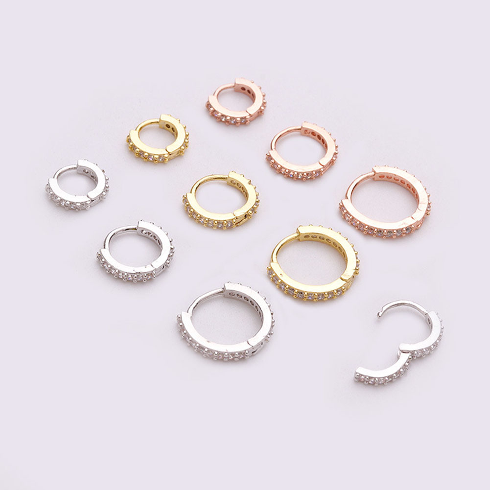 1pcs Hinge Segment Nose Ring & Studs Fashion Body Women Girl Jewelry Surgical Steel Nose Piercing Colorful Rhinestone