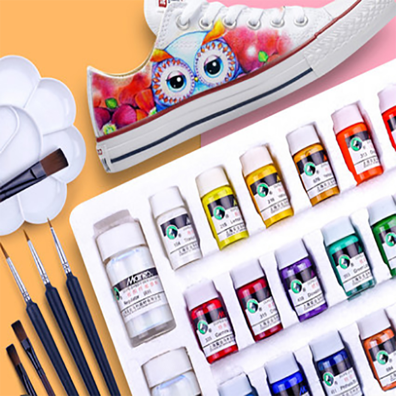 Textile Fiber Pigment Acrylic Waterproof Painting Shoes Painting Set Hand-painted Canvas Sneakers Graffiti Diy Dye Painting