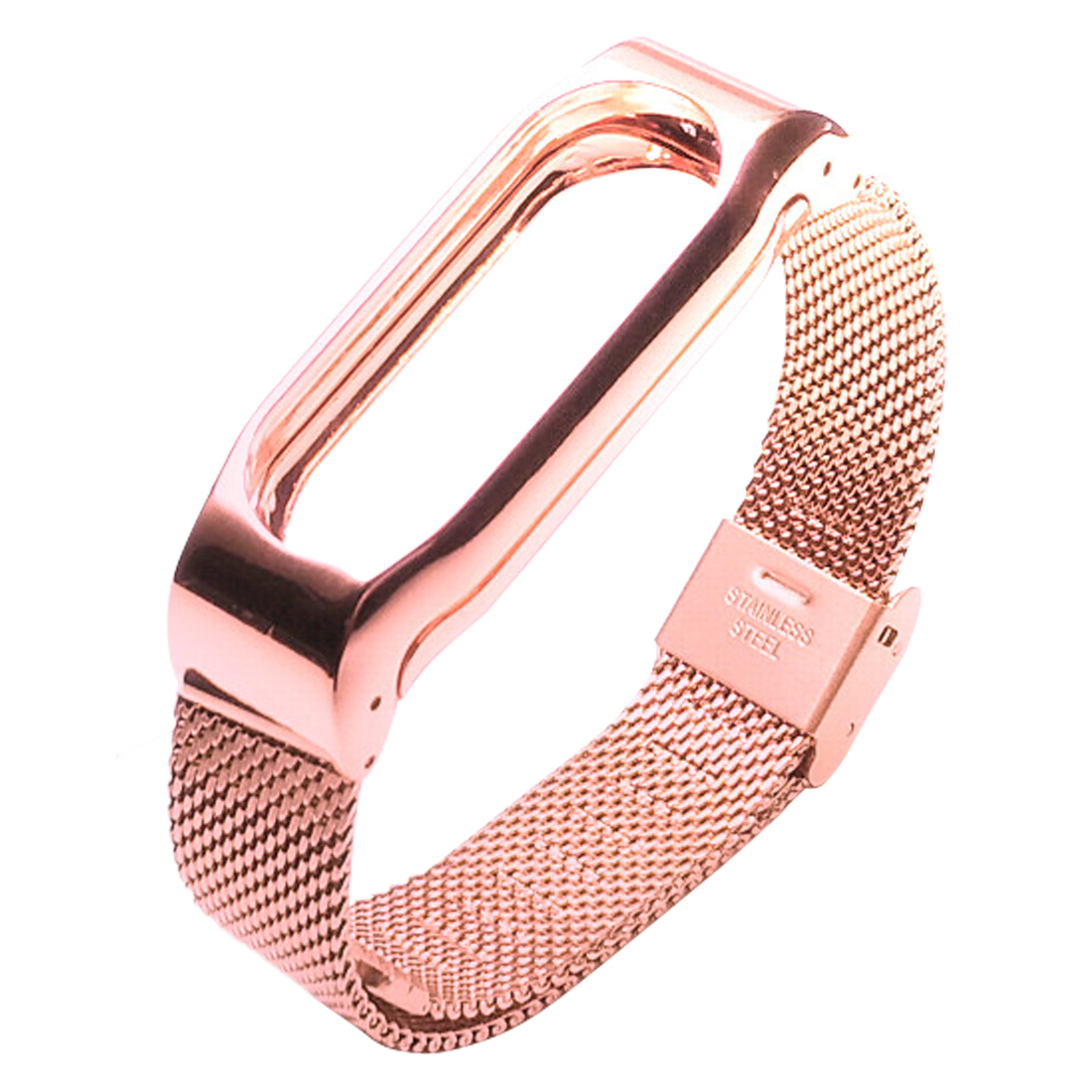 Metal Strap For Xiaomi Mi Band 2 Wristband Screwless Straps Bracelet For Mi Band 2 Magnetic Automatic Buckle Wristbands