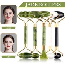 Massager Für Gesicht Jade Roller Set Grün Gesichts Natürlichen Gouache Schaber Körper Zurück Schönheit Hautpflege Abnehmen Massage Roller