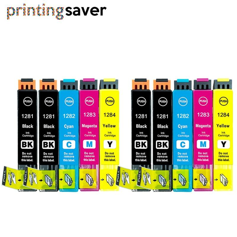 10x COMPATIBLE T128 T1285 XL INK CARTRIDGE FOR EPSON STYLUS SX130 SX230 SX425W SX235W SX435W INKJET PRINTER T1281 - T1284