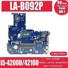 ZIWE1/ZIWB2/ZIWB3 LA-B092P для For Lenovo B50-70 N50-70 материнская плата i5-4200U/4210U CPU LA-B092P Rev: 1