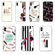 TPU Cover Makeup Parfum Lipstik Make Up untuk Galaxy C5 C7 J1 J2 J3 J330 J5 J6 J7 J730 M20 m30 Ace Core Max Mini Plus Prime Pro(China)