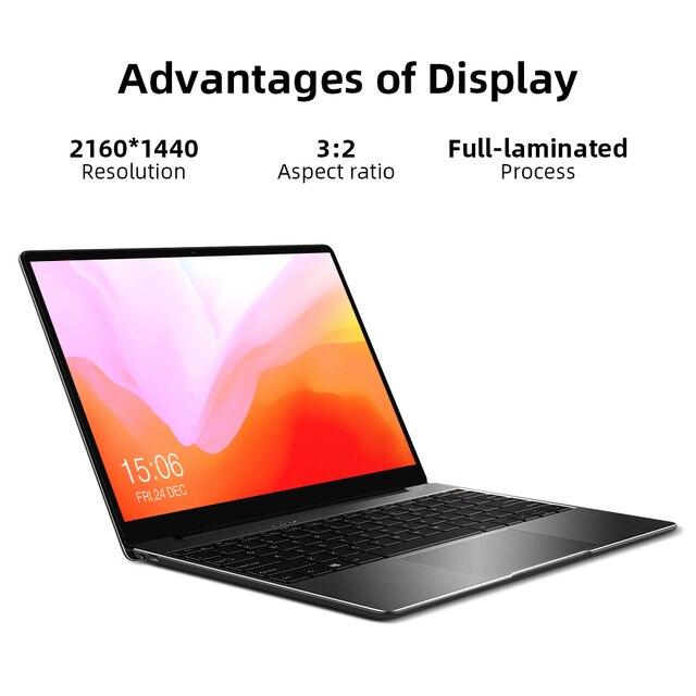"CHUWI CoreBook Pro Intel Core i3 Laptops 13"" 2160*1440 IPS Screen 8GB RAM 256GB SSD NoteBook with Backlit Keyboard 2.4G/5G Wifi 3"