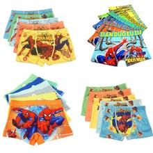 Calcinha boxer para meninos, 5 peças de roupa íntima de algodão para crianças-11