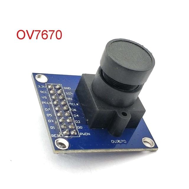 OV7670 وحدة كاميرا OV7670 مودوليسوبوتس VGA CIF عرض التحكم في التعرض التلقائي حجم نشط 640X480 لاردوينو