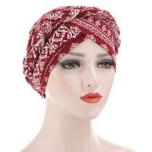 2020 новый богемный мусульманский тюрбан с принтом шарф для