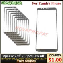 5.65 inch Black Covered On Front Digitizer LCD Display Sensor Glass Panel For Yandex Phone Touch Screen Glass lens + Tracking