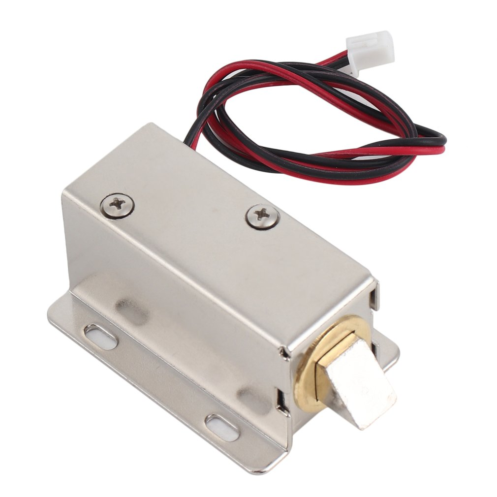 LESHP Electric Door Lock With Low Power Consumption Stability Professional Small DC 12V Door Lock Open Frame Type Solenoid