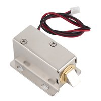 LESHP Electric door lock with Low Power Consumption Stability Professional Small DC 12V door lock Open Frame Type Solenoid-במנעול חשמלי מתוך אבטחה והגנה באתר