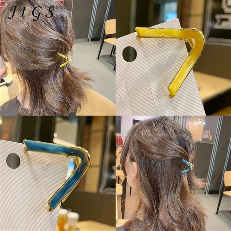 Купить модные геометрические когти для волос в корейском стиле женщин