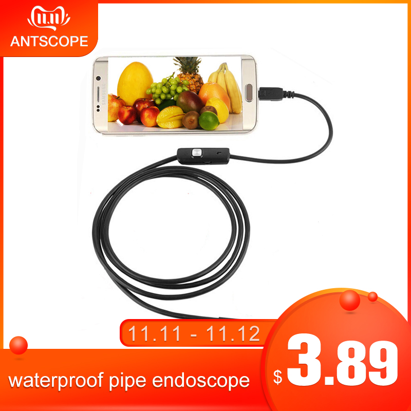 Antscope 5.5mm/7mm Endoscope Android 6 LED USB Endoscope Camera Waterproof Borescope Camera 2in1 Soft Cable Inspection Camera  5