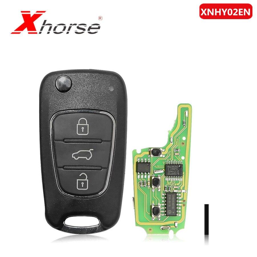 Xhorse VVDI2 XNHY02EN Wireless Universal Remote Key For HYUNDAI Flip 3 Buttons Remotes For VVDI Key Tool 1Piece