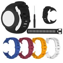 להקת עבור Suunto D6 צלילה Suunto D6i סיליקון פלדה ארוך רצועת עבור Suunto D6i חגורה עם ארוך רצועת רצועת השעון החלפה צמיד