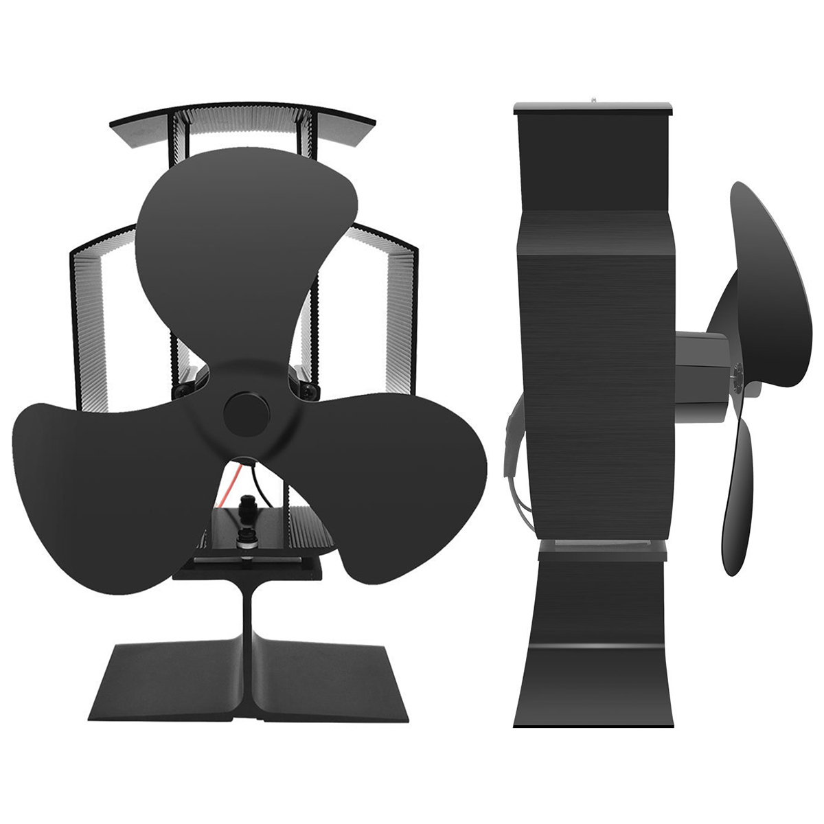 Eco-Friendly Heat Powered Stove Fan For Wood Log Burner Fireplace Circulates140-170CFM