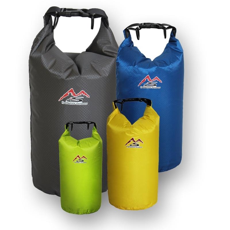 5L 10L 20L 30L Outdoor Swimming Waterproof Bag Camping Rafting Storage Dry Bag Adjustable Sport River Trekking Bags 4 Colors