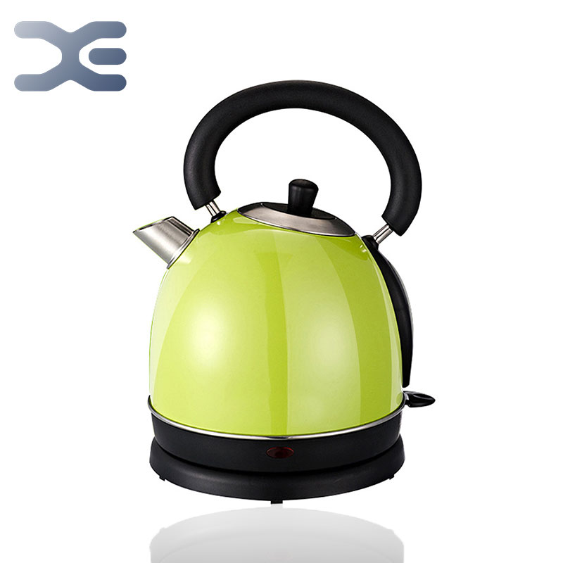 220V Retro Electric Kettle Stainless Steel 1.8L 1800W Fast Boiling British Strix Thermostat BPA-Free Cordless Electric Tea Pot