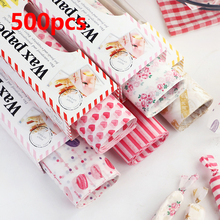 500pcs Oilpaper Wrapping Paper Wax Paper Food Wrappers For Bread Sandwiches Cake French Fries Candy Cookies Paper Baking Tools printing wrapping wax paper soap gift book waxed packing paper food grade rice paper