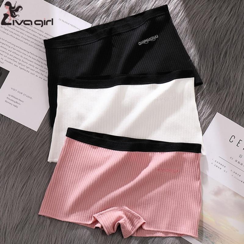 Seamless Women Safety Shorts Pants Thread Seamless Mid Waist Panties Anti-emptied Boyshorts Pants Girls Slimming Underwear
